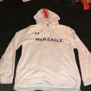 Under Armour white auburn jacket size large